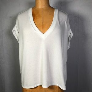 WILFRED FREE White V Neck Pullover Top